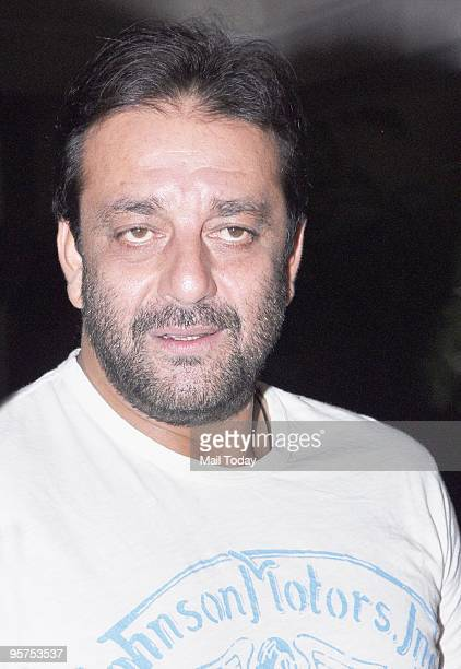 Actor Sanjay Dutt at a press conference in Mumbai on January 10 2010