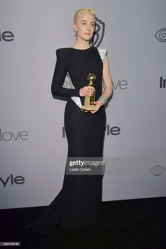 Actor Saoirse Ronan attends 19th Annual Post-Golden Globes Party hosted by Warner Bros. Pictures and InStyle at The Beverly Hilton Hotel on January 7, 2018 in Beverly Hills, California.