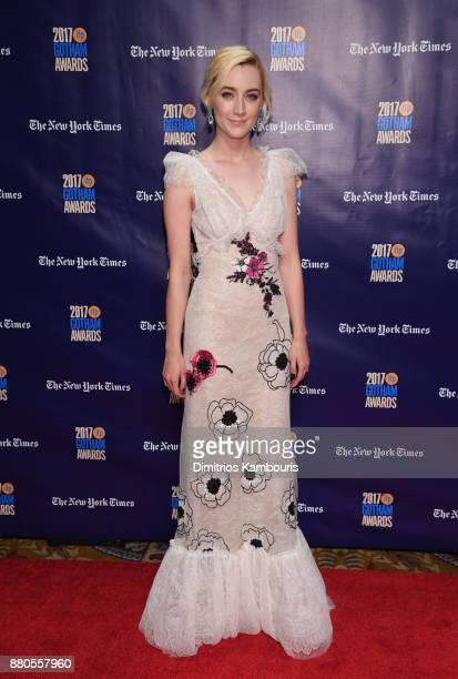 Actor Saoirse Ronan attends IFP's 27th Annual Gotham Independent Film Awards on November 27 2017 in New York City