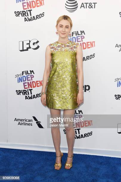 Actor Saoirse Ronan attends the 2018 Film Independent Spirit Awards on March 3, 2018 in Santa Monica, California.