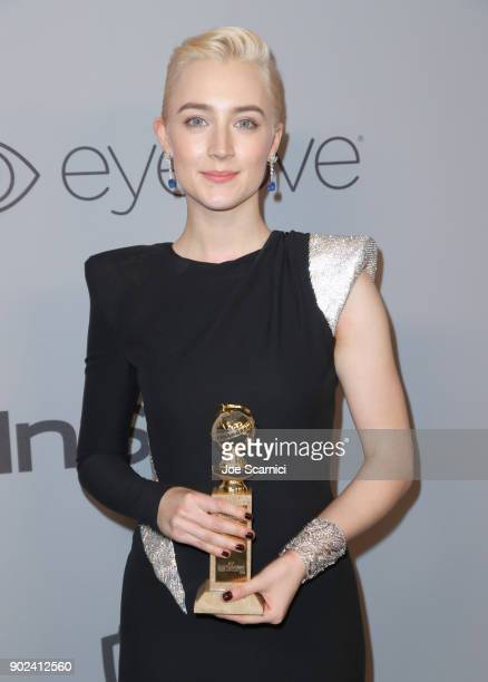 Actor Saoirse Ronan attends the 2018 InStyle and Warner Bros 75th Annual Golden Globe Awards PostParty at The Beverly Hilton Hotel on January 7 2018...