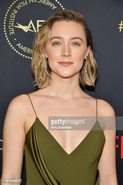Actor Saoirse Ronan attends the 20th Annual AFI Awards at Four Seasons Hotel Los Angeles at Beverly Hills on January 03 2020 in Los Angeles California