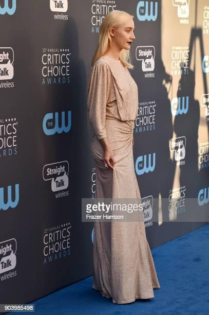 Actor Saoirse Ronan attends The 23rd Annual Critics' Choice Awards at Barker Hangar on January 11 2018 in Santa Monica California