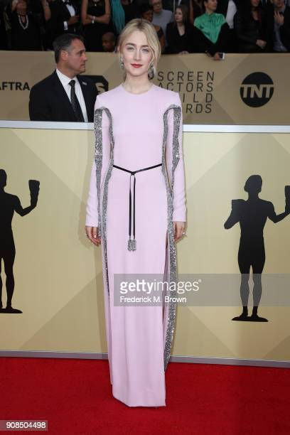 Actor Saoirse Ronan attends the 24th Annual Screen Actors Guild Awards at The Shrine Auditorium on January 21 2018 in Los Angeles California 27522_017