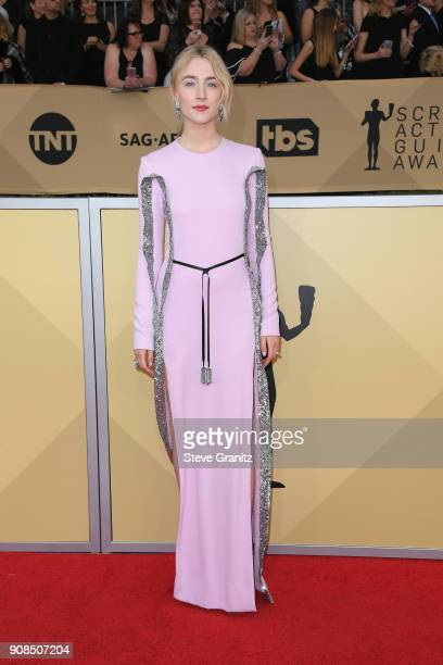 Actor Saoirse Ronan attends the 24th Annual Screen ActorsGuild Awards at The Shrine Auditorium on January 21, 2018 in Los Angeles, California.
