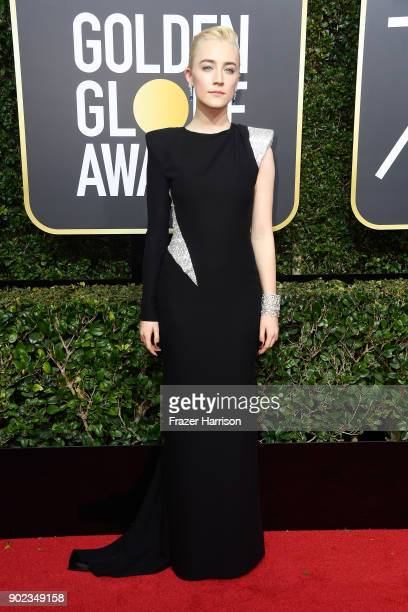 Actor Saoirse Ronan attends The 75th Annual Golden Globe Awards at The Beverly Hilton Hotel on January 7 2018 in Beverly Hills California