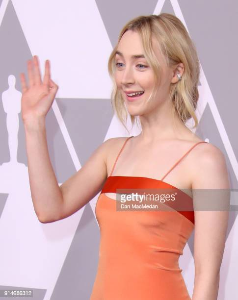 Actor Saoirse Ronan attends the 90th Annual Academy Awards Nominee Luncheon at The Beverly Hilton Hotel on February 5 2018 in Beverly Hills California