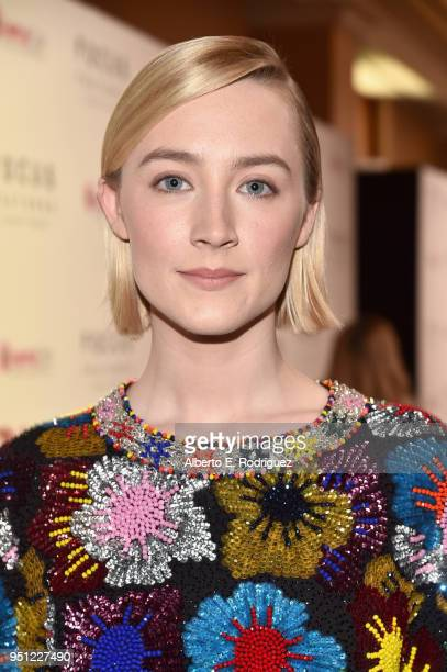 Actor Saoirse Ronan attends the CinemaCon 2018 Focus Features Presentation at Caesars Palace during CinemaCon the official convention of the National...