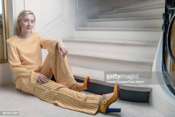 Actor Saoirse Ronan is photographed for Paris Match on February 15 2018 in Paris France