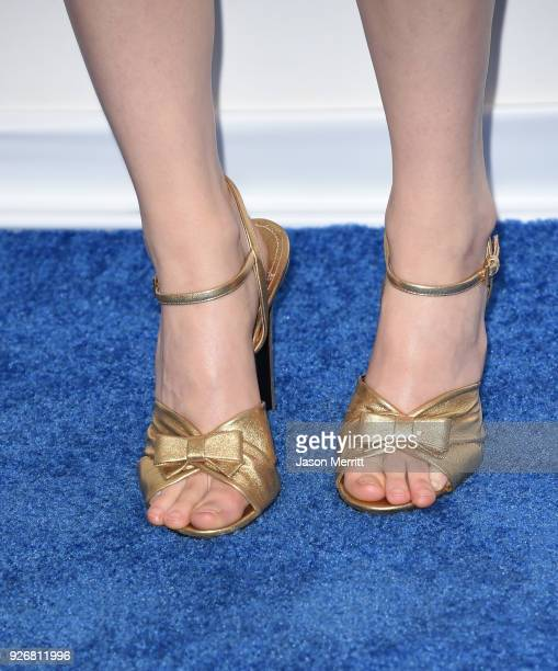 Actor Saoirse Ronan shoe detail attends the 2018 Film Independent Spirit Awards on March 3 2018 in Santa Monica California