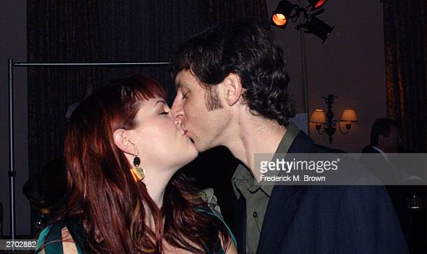 Actor Sara Rue and her husband Mischa Livingstone attend the Environmental Media Awards at the Ebell Theatre on November 5 2003 in Los Angeles...