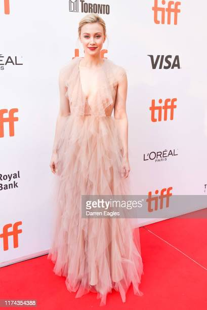 Actor Sarah Gadon arrives on the red carpet for the premiere of American Woman during the 2019 Toronto International Film Festival at Roy Thomson...