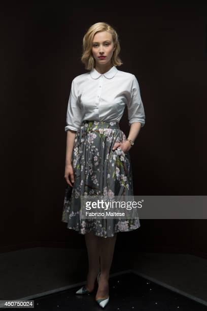 Actor Sarah Gadon is photographed in Cannes France