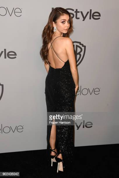 Actor Sarah Hyland attends 19th Annual PostGolden Globes Party hosted by Warner Bros Pictures and InStyle at The Beverly Hilton Hotel on January 7...
