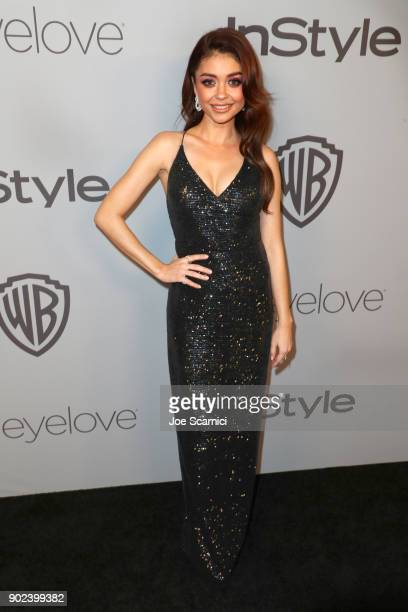 Actor Sarah Hyland attends the 2018 InStyle and Warner Bros 75th Annual Golden Globe Awards PostParty at The Beverly Hilton Hotel on January 7 2018...