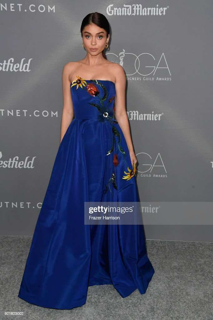 Actor Sarah Hyland attends the Costume Designers Guild Awards at The Beverly Hilton Hotel on February 20, 2018 in Beverly Hills, California.