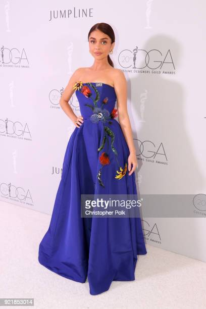 Actor Sarah Hyland attends the Costume Designers Guild Awards at The Beverly Hilton Hotel on February 20 2018 in Beverly Hills California
