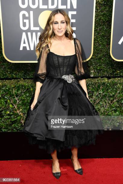 Actor Sarah Jessica Parker attends The 75th Annual Golden Globe Awards at The Beverly Hilton Hotel on January 7 2018 in Beverly Hills California