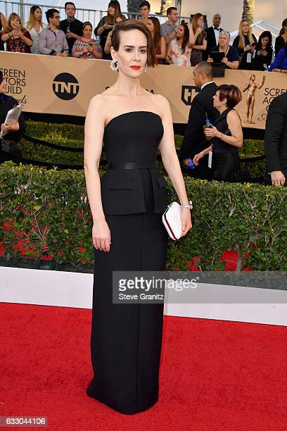 Actor Sarah Paulson attends the 23rd Annual Screen Actors Guild Awards at The Shrine Expo Hall on January 29 2017 in Los Angeles California