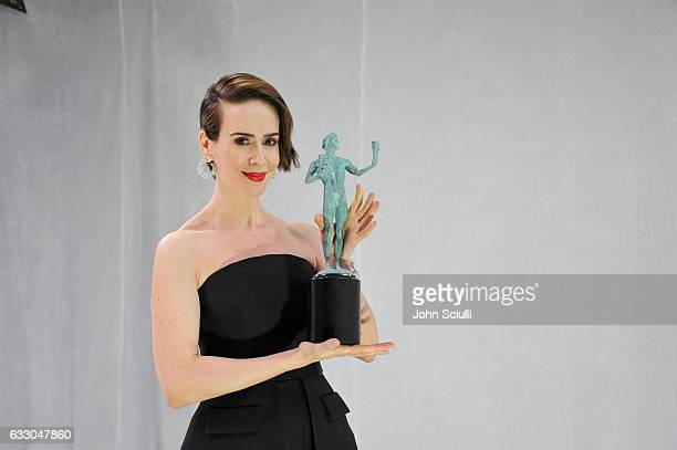 Actor Sarah Paulson attends The 23rd Annual Screen Actors Guild Awards at The Shrine Auditorium on January 29 2017 in Los Angeles California 26592_018