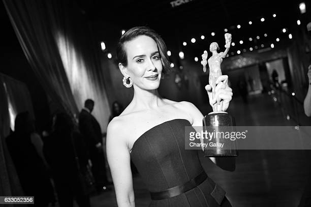 Actor Sarah Paulson attends The 23rd Annual Screen Actors Guild Awards at The Shrine Auditorium on January 29 2017 in Los Angeles California 26592_010