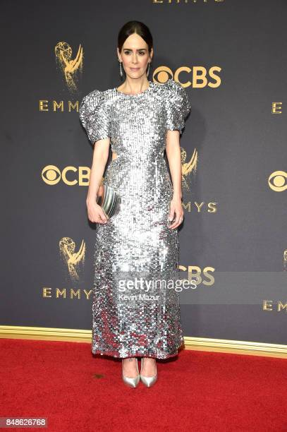 Actor Sarah Paulson attends the 69th Annual Primetime Emmy Awards at Microsoft Theater on September 17, 2017 in Los Angeles, California.