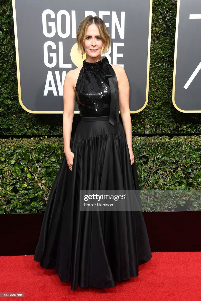 Actor Sarah Paulson attends The 75th Annual Golden Globe Awards at The Beverly Hilton Hotel on January 7, 2018 in Beverly Hills, California.