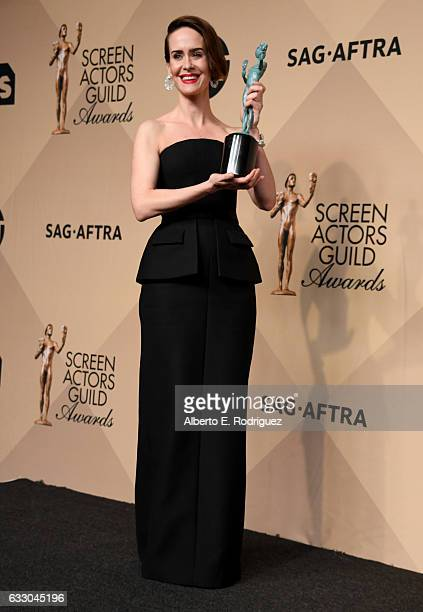 Actor Sarah Paulson winner of the Outstanding Performance by a Female Actor in a Miniseries or Television Movie for 'The People v OJ Simpson American...