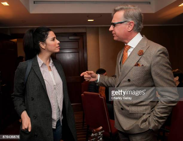 Actor Sarah Silverman and filmmaker Paul Feig attend Vulture Festival LA presented by ATT at Hollywood Roosevelt Hotel on November 19 2017 in...