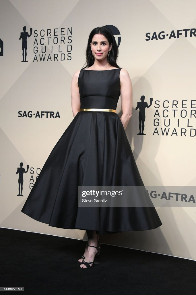 Actor Sarah Silverman poses in the press room during the 24th Annual Screen ActorsGuild Awards at The Shrine Auditorium on January 21, 2018 in Los Angeles, California.