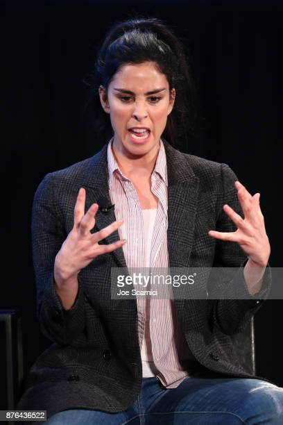 Actor Sarah Silverman speaks onstage during the 'State of the Union' event part of Vulture Festival LA presented by ATT at Hollywood Roosevelt Hotel...