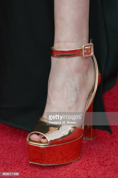 Actor Sarah Sutherland shoe detail attends the 24th Annual Screen Actors Guild Awards at The Shrine Auditorium on January 21 2018 in Los Angeles...
