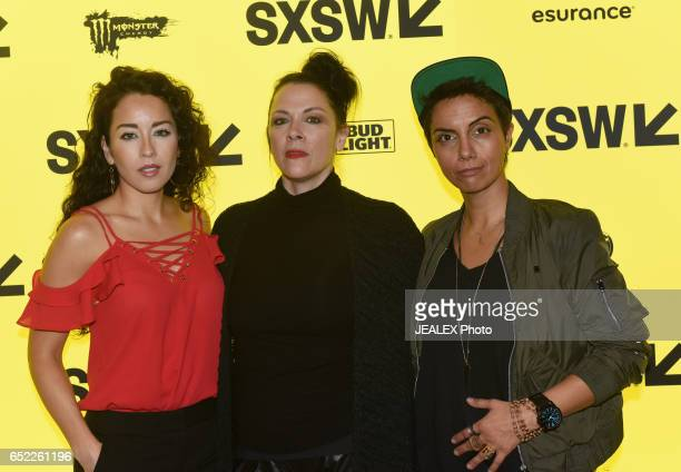 Actor Sari Sanchez director Jennifer Reeder and actor Fawzia Mirza attend the premiere of Signature Move during 2017 SXSW Conference and Festivals at...