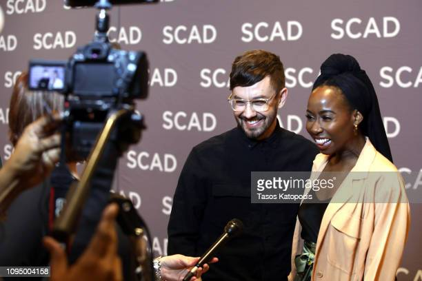 Actor Sasha Compere adn director Jorma Taccone attend the 'Miracle Workers' press junket during SCAD aTVfest 2019 at SCADshow on February 7 2019 in...