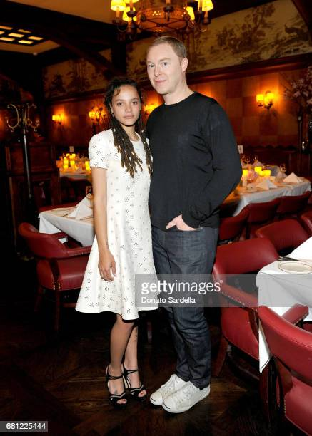 Actor Sasha Lane and Coach Creative Director Stuart Vevers attend the Coach Rodarte celebration for their Spring 2017 Collaboration at Musso Frank on...