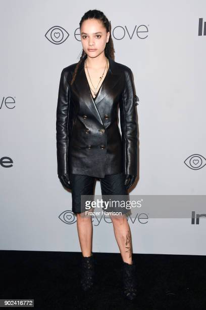 Actor Sasha Lane attends 19th Annual PostGolden Globes Party hosted by Warner Bros Pictures and InStyle at The Beverly Hilton Hotel on January 7 2018...