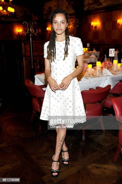 Actor Sasha Lane attends the Coach Rodarte celebration for their Spring 2017 Collaboration at Musso Frank on March 30 2017 in Hollywood California