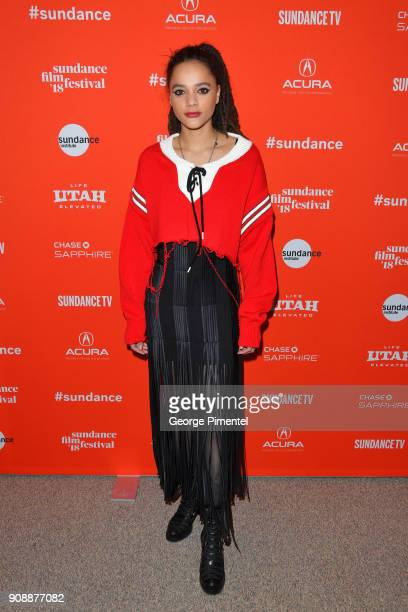 Actor Sasha Lane attends the 'The Miseducation Of Cameron Post' And 'I Like Girls' Premieres during the 2018 Sundance Film Festival at Eccles Center...