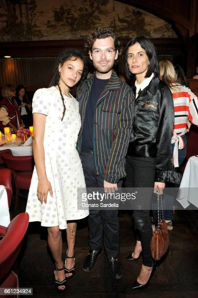 Actor Sasha Lane Vogue west coast associate Cameron Bird and stylist Maryam Malakpour attend the Coach Rodarte celebration for their Spring 2017...
