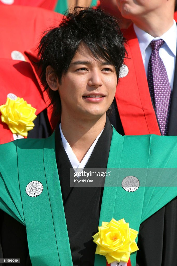 Actor Satoshi Tsumabuki attends a bean-scattering ceremony at Shinshoji Temple on February 3, 2009 in Narita, Chiba, Japan. The ceremony is held all over Japan on Setsubun which is the name of the day before the beginning of each season, which in this case is on February 3 or 4, one day before the start of spring according to the Japanese lunar calendar. It has been said that throwing beans drives out misfortune and brings in good luck.