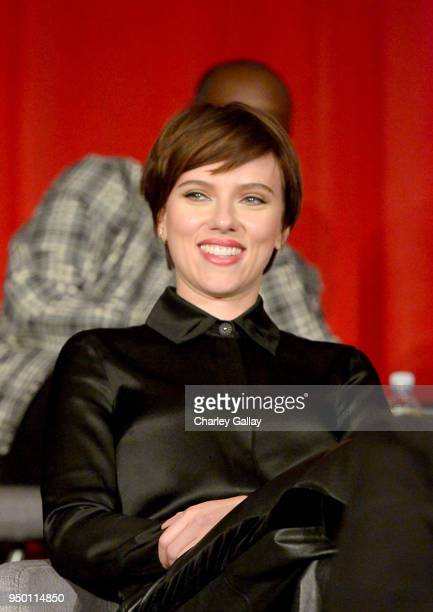 Actor Scarlett Johansson at the Avengers Infinity War Press Junket in Los Angeles CA April 22nd 2018