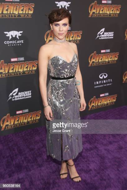 Actor Scarlett Johansson attends the Los Angeles Global Premiere for Marvel Studios' Avengers Infinity War on April 23 2018 in Hollywood California