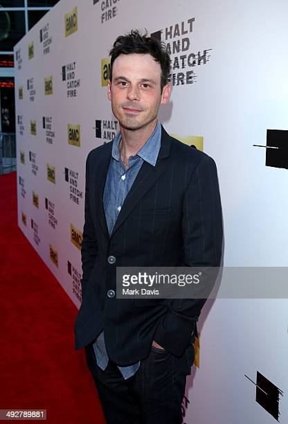Actor Scoot McNairy attends AMC's new series Halt And Catch Fire Los Angeles Premiere at ArcLight Cinemas on May 21 2014 in Hollywood California