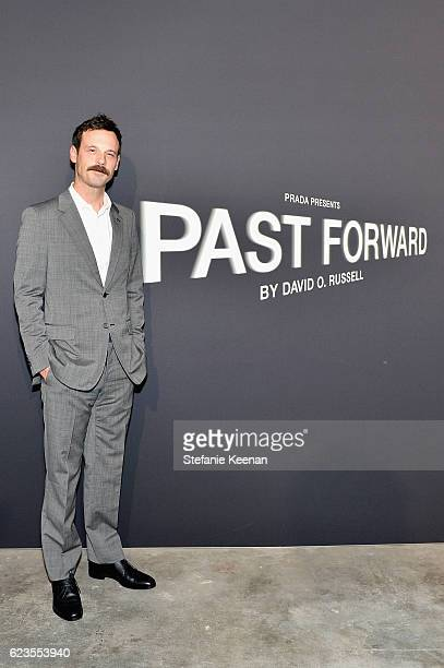 Actor Scoot McNairy attends the premiere of 'Past Forward' a movie by David O Russell presented by Prada on November 15 2016 at Hauser Wirth Schimmel...