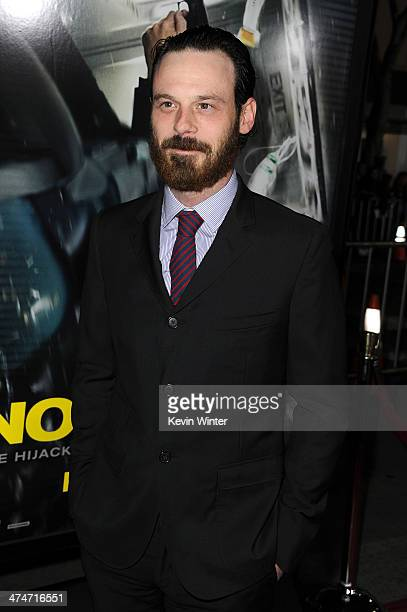 Actor Scoot McNairy attends the premiere of Universal Pictures and Studiocanal's NonStop at Regency Village Theatre on February 24 2014 in Westwood...