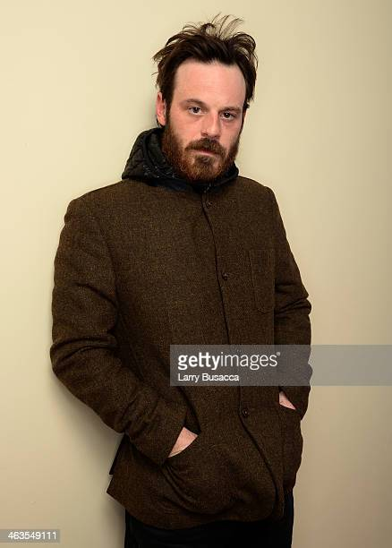 Actor Scoot McNairy poses for a portrait during the 2014 Sundance Film Festival at the WireImage Portrait Studio at the Village At The Lift Presented...