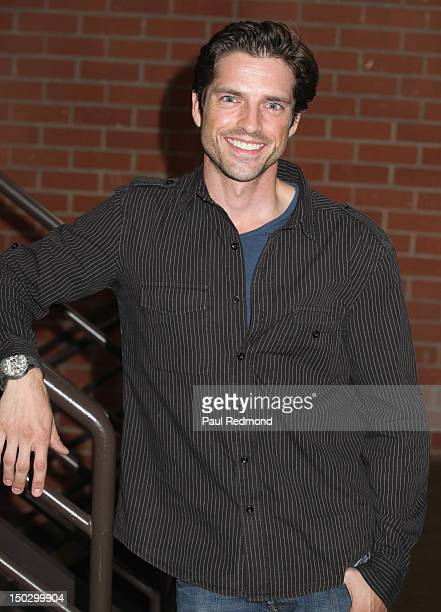 Actor Scott Bailey arrives at the official private table read of The Bay Season 3 on August 14 2012 in Los Angeles California