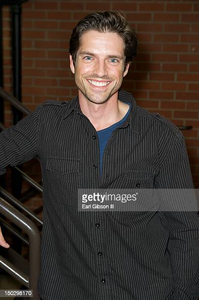 Actor Scott Bailey attends a private table read of The Bay on August 14 2012 in Los Angeles California