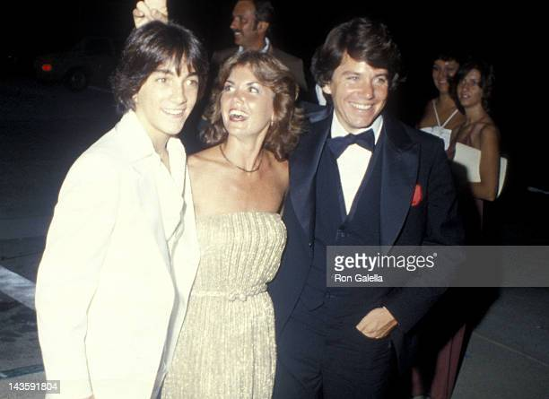 Actor Scott Baio actor Anson Williams and wife Lorrie Mahaffey attend the 31st Annual Primetime Emmy Awards on September 9 1979 at the Pasadena Civic...
