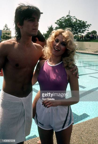 Actor Scott Baio and actress Audrey Landers attend the 'Battle of the Network Stars XIV' Television Competition Special on April 23 1983 at...